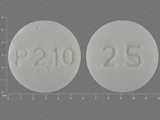 P210;25. Acarbose 25 MG Oral Tablet. Ingredients: ACARBOSE[ACARBOSE]