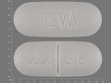 22;38;TEVA. Cephalexin 250 MG Oral Tablet. Ingredients: Cephalexin