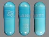 Lannett;1383. Clindamycin 300 MG Oral Capsule. Ingredients: CLINDAMYCIN HYDROCHLORIDE[CLINDAMYCIN]