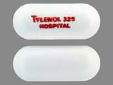 TYLENOL;325;HOSPITAL. Acetaminophen 325 MG Oral Tablet [Tylenol]. Ingredients: Acetaminophen[Acetaminophen]