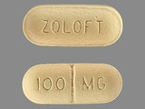 ZOLOFT;100;mg. Sertraline 100 MG Oral Tablet [Zoloft]. Ingredients: SERTRALINE HYDROCHLORIDE[SERTRALINE]