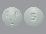 ZLP;5. Zolpidem tartrate 5 MG Oral Tablet. Ingredients: ZOLPIDEM TARTRATE[ZOLPIDEM]