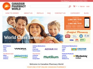 CanadianPharmacyWorld.com review screenshot