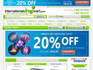 internationaldrugmart.com review screenshot