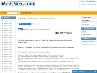 MedsMex.com review screenshot